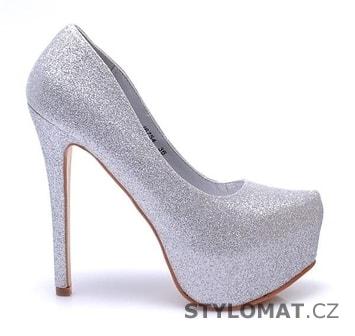 e717c191ea6 Luxusní stříbrné lodičky - Belle Women - Lodičky