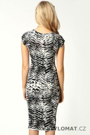 Elegantní dámské bílo-černé letní šaty - Damson - Party a koktejlové šaty 756022200b