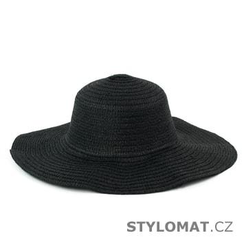 """Dámský plážový klobouk """"slamák"""" černý"""
