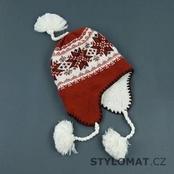Pletená ušanka červená - Art of Polo - Zimní dámské ušanky 225f9ad056