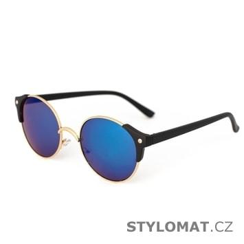 Sluneční brýle s černo-zlatými obroučkami