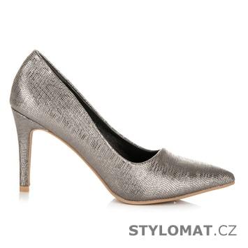 Stříbrné vzorované lodičky - Kylie - Lodičky b95b8a4844