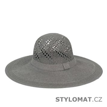 Přírodní letní klobouk šedý
