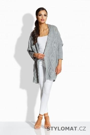 Dámský módní kardigan šedý