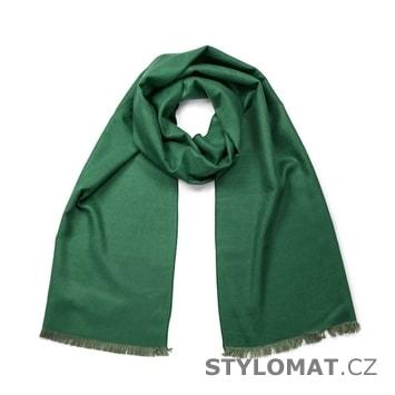 Jednoduchý klasický šál zelený